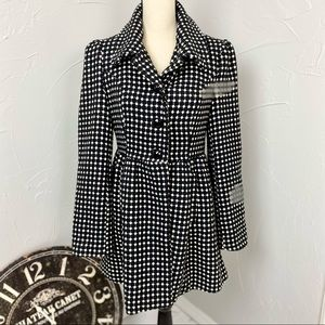 Francesca's Blue Rain Fit and Flare jacket size M